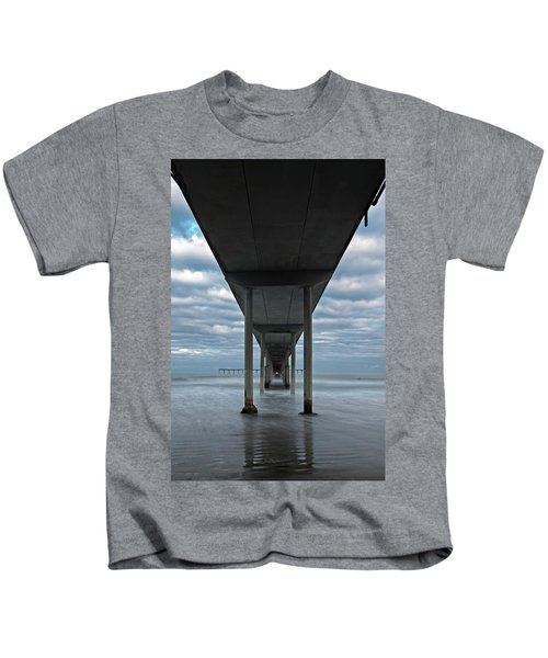 Under The Ocean Beach Pier San Diego Early Morning Kids T-Shirt