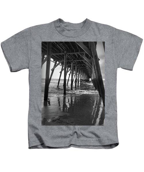 Under The Pier At Myrtle Beach Kids T-Shirt