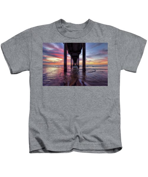 Under The Pier Sunset Kids T-Shirt