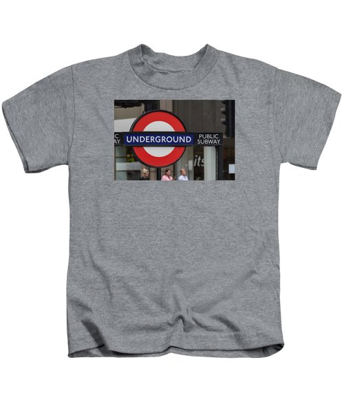 Underground Sign London Kids T-Shirt