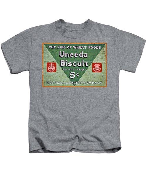 Uneeda Biscuit Vintage Sign Kids T-Shirt