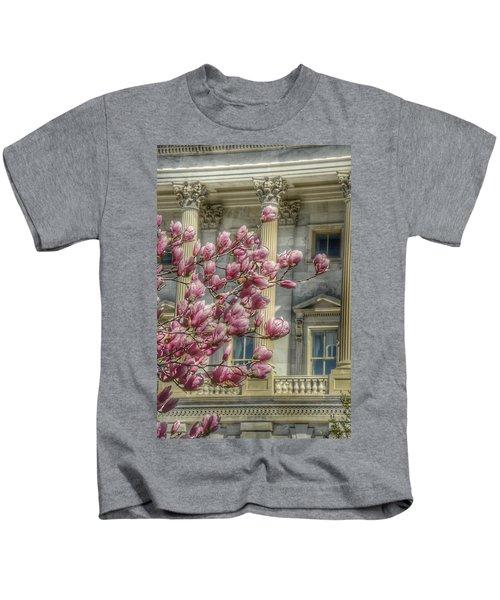United States Capitol - Magnolia Tree Kids T-Shirt by Marianna Mills