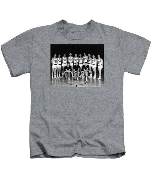 University Of Michigan Basketball Team 1960-61 Kids T-Shirt by Mountain Dreams
