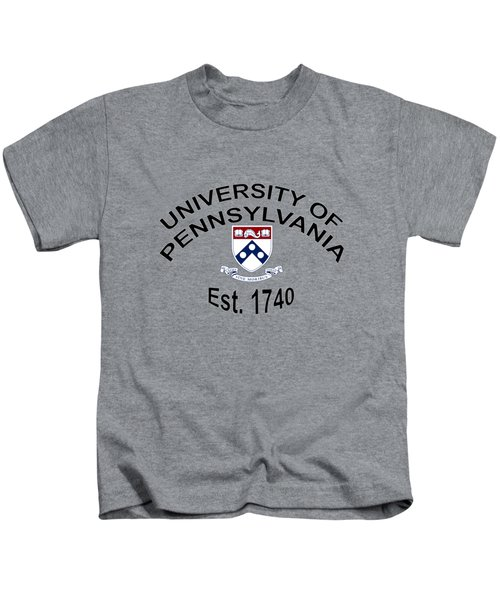 University Of Pennsylvania Est 1740 Kids T-Shirt by Movie Poster Prints