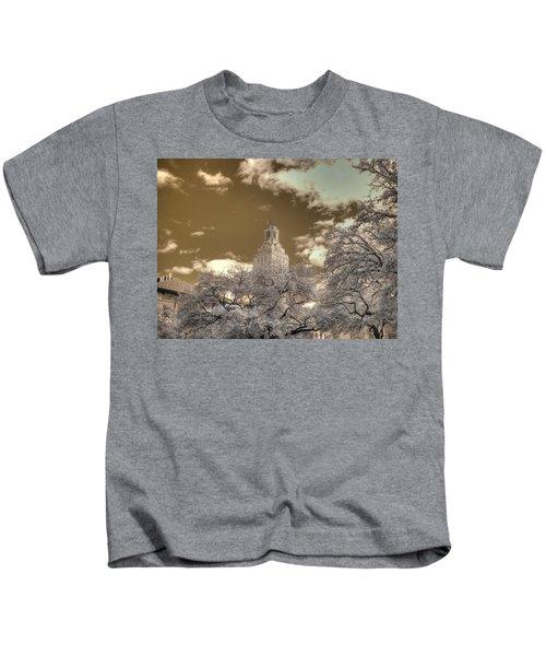 83a9dcd1c3b University Of Texas Clock Tower Austin Kids T-Shirt