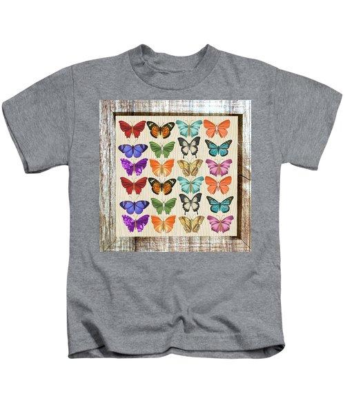 Colourful Butterflies Collage Kids T-Shirt