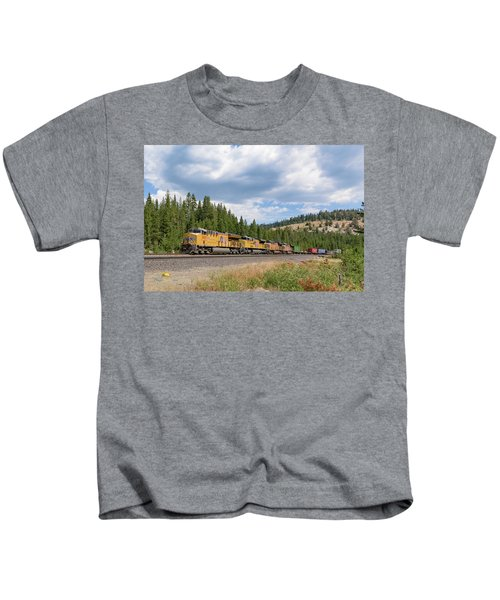 Up2650 Westbound From Donner Pass Kids T-Shirt