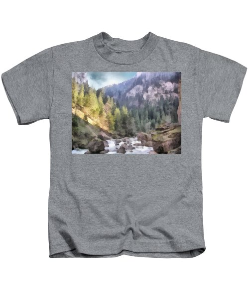 Valley Of Light And Shadow Kids T-Shirt