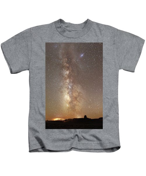 Valley Of The Gods Milky Way Kids T-Shirt