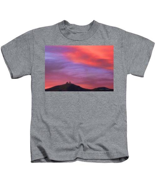 Ventura Ca Two Trees At Sunset Kids T-Shirt