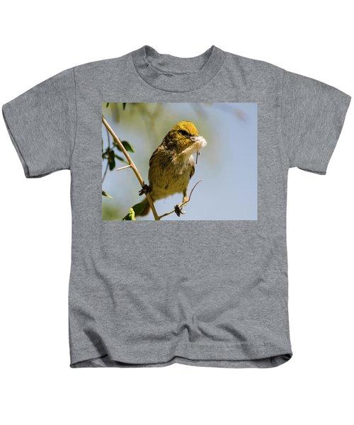Verdin Building A Nest Kids T-Shirt
