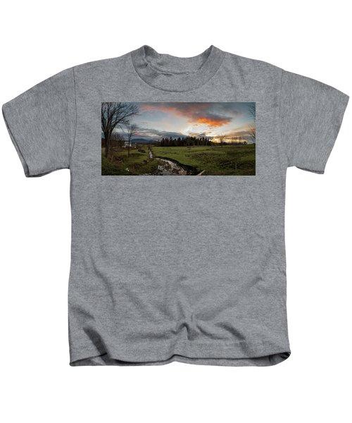 Vermont Sunset Kids T-Shirt