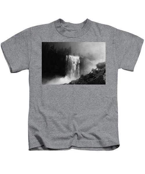 Vernal Fall And Mist Trail Kids T-Shirt