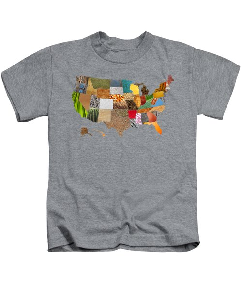 Vibrant Textures Of The United States Kids T-Shirt