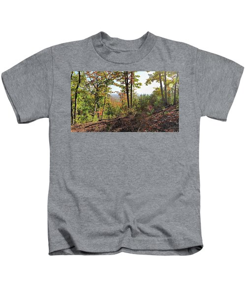 View From The Top Of Brown's Mountain Trail, Kings Mountain Stat Kids T-Shirt