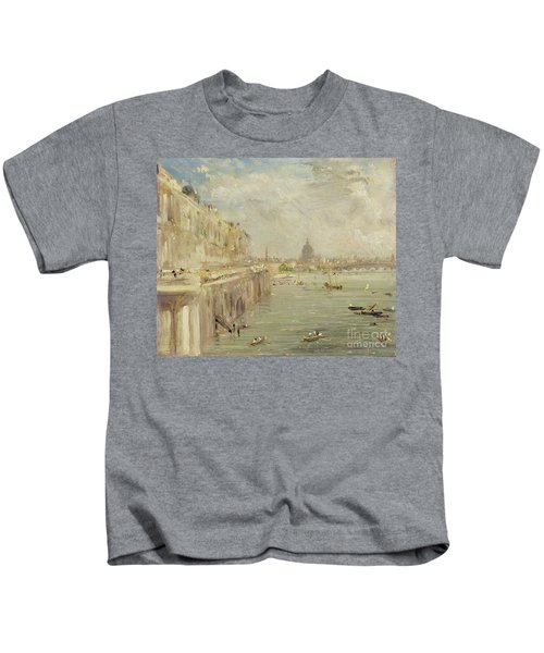 View Of Somerset House Terrace And St. Paul's Kids T-Shirt
