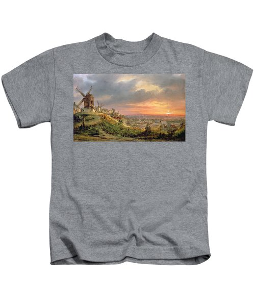 View Of The Butte Montmartre Kids T-Shirt