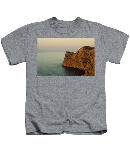 Views Of The Lighthouse At Sunset, Cap Kids T-Shirt