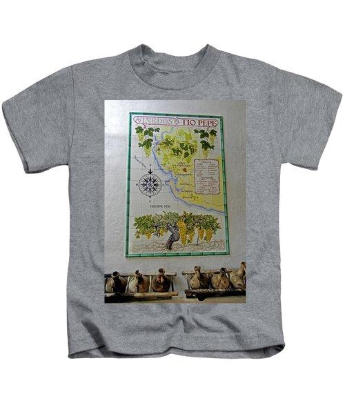 Vinedos Tio Pepe - Jerez De La Frontera Kids T-Shirt