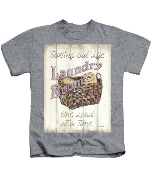 Vintage Laundry Room 2 Kids T-Shirt