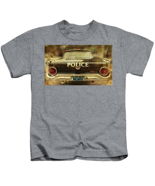Vintage Police Car - Baltimore, Maryland Kids T-Shirt