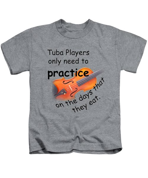 Violins Practice When They Eat Kids T-Shirt by M K  Miller