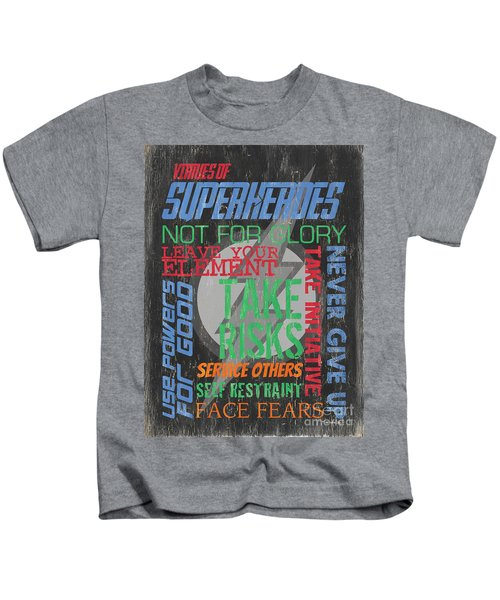 Virtues Of Superheroes Kids T-Shirt