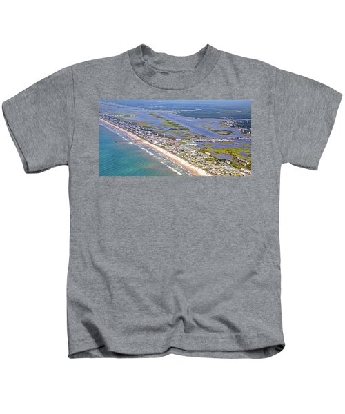 Vivid Surf City Topsail Island Kids T-Shirt