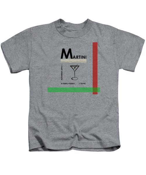 Vodka Martini Kids T-Shirt by Mark Rogan
