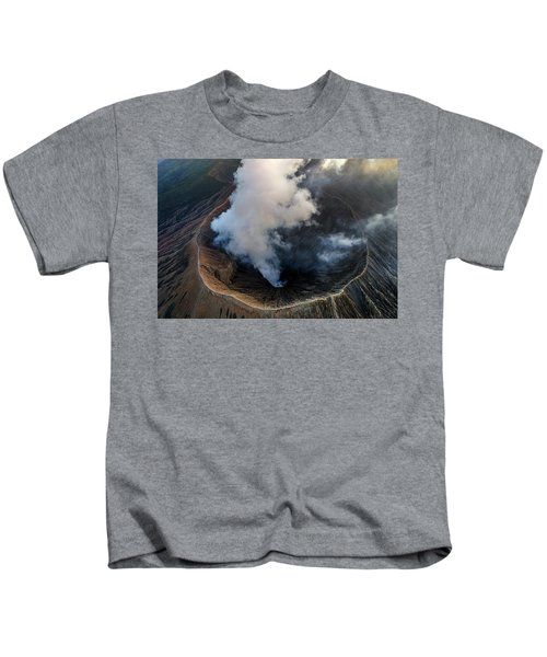 Volcanic Crater From Above Kids T-Shirt