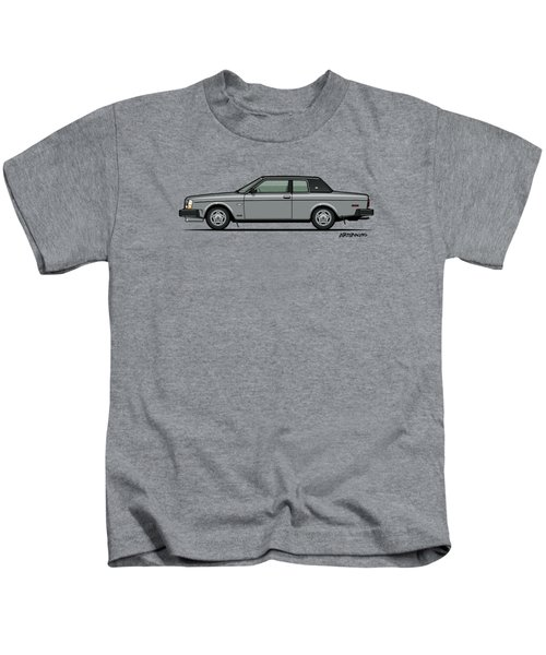 Volvo 262c Bertone Brick Coupe 200 Series Silver Kids T-Shirt by Monkey Crisis On Mars