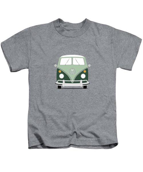 Vw Bus Green Kids T-Shirt by Mark Rogan
