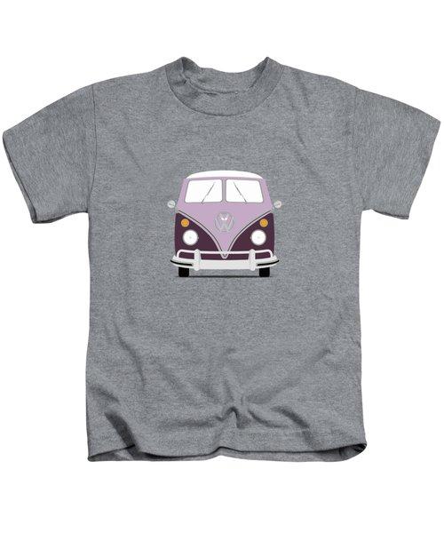 Vw Bus Purple Kids T-Shirt by Mark Rogan