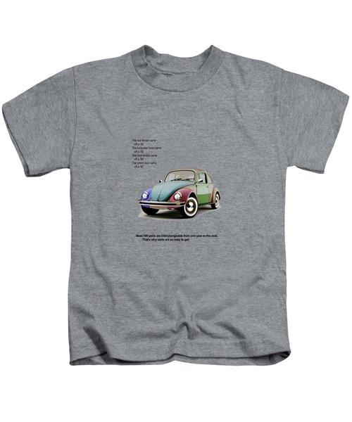 Vw Parts Kids T-Shirt by Mark Rogan