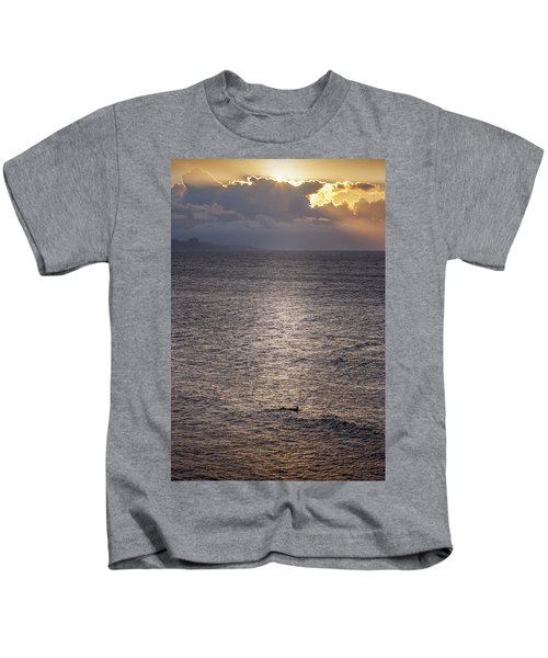 Waiting For The Last Wave Of The Day Kids T-Shirt