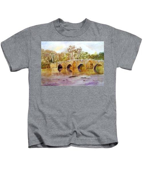 Wales Dipping Bridge Kids T-Shirt