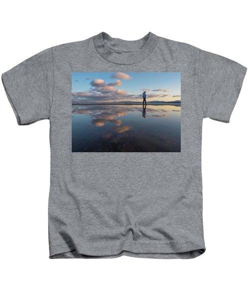Walking In The Sunset Kids T-Shirt