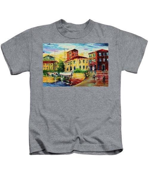 Walking The Harbor Kids T-Shirt