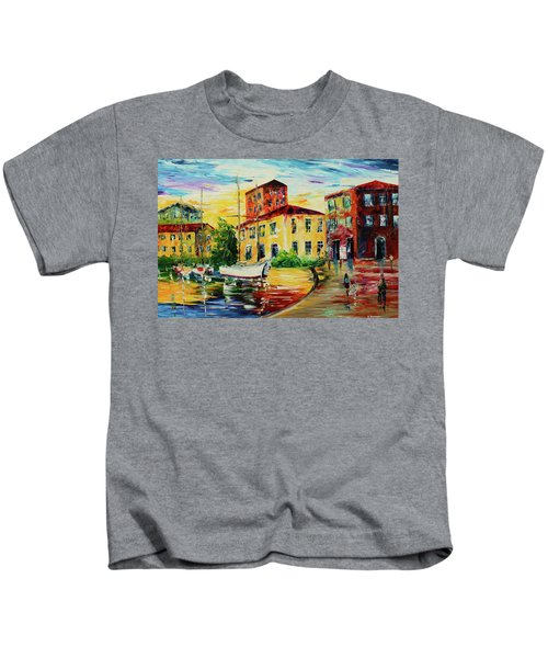 Walking The Harbor Kids T-Shirt