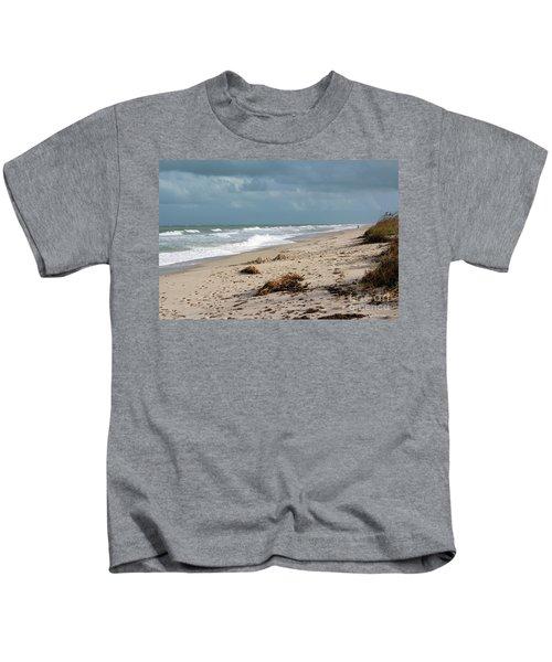 Walks On The Beach Kids T-Shirt