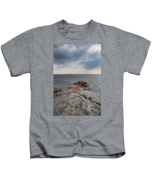 Wall Island Lichen Driftwood 3640 Kids T-Shirt