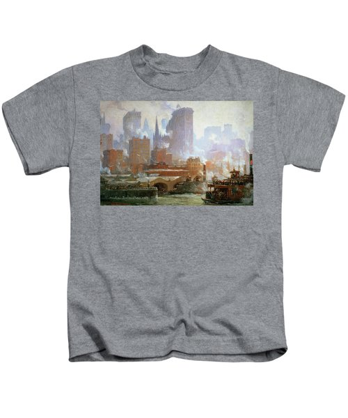 Wall Street Ferry Ship Kids T-Shirt