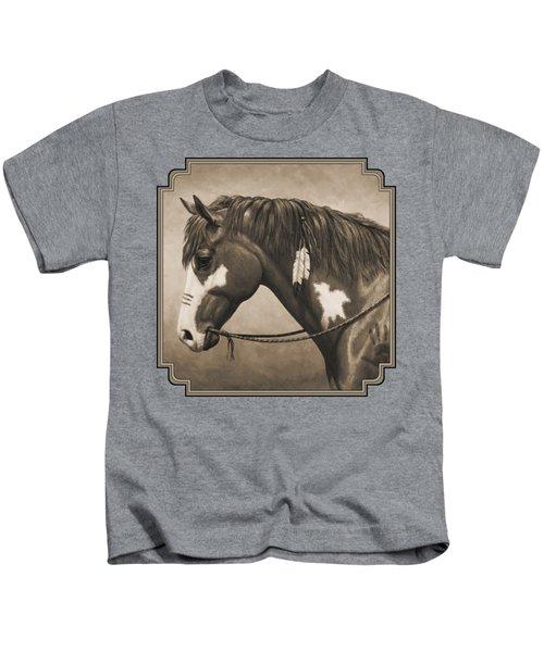 War Horse Aged Photo Fx Kids T-Shirt