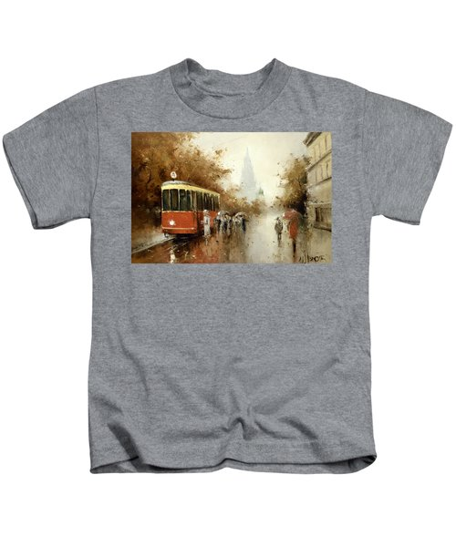 Warm Moscow Autumn Of 1953 Kids T-Shirt