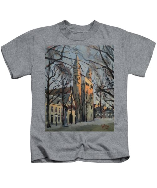 Warm Winterlight Olv Plein Kids T-Shirt