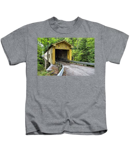 Warner Hollow Covered Bridge Kids T-Shirt