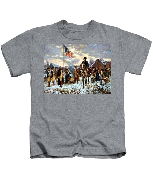 Washington At Valley Forge Kids T-Shirt by War Is Hell Store