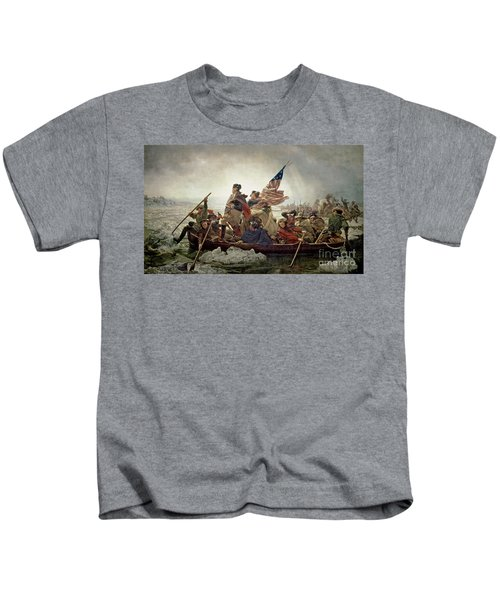 Washington Crossing The Delaware River Kids T-Shirt