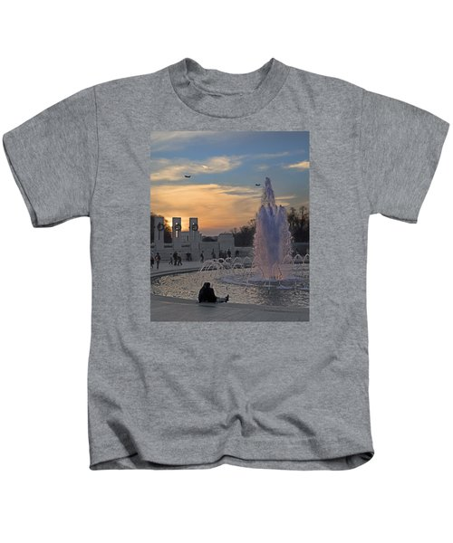Washington Dc Rhythms  Kids T-Shirt by Betsy Knapp