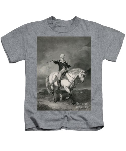 Washington Receiving A Salute On The Field Of Trenton Kids T-Shirt